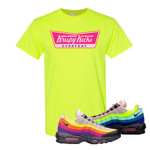 Airmax 95 '20 For 20' Sneaker Safety Green T Shirt | Tees to match Nike Airmax 95 '20 For 20' Shoes | Krispy Kicks