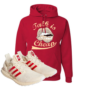 Adidas Ultra Boost 1.0 Indiana Pullover Hoodie | Talk Is Cheap, Red