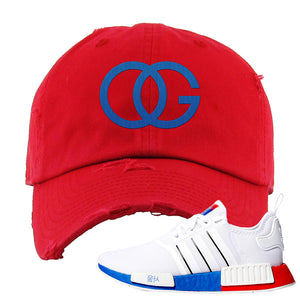 NMD R1 Seoul Distressed Dad Hat | Red, OG
