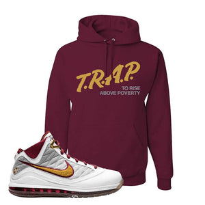 LeBron 7 MVP Hoodie | Maroon, Trap To Rise Above Poverty