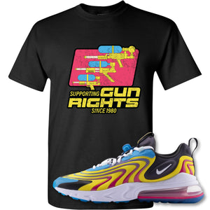 Water Soaker Black T-Shirt to match Air Max 270 React ENG Laser Blue Sneakers