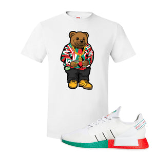 NMD R1 V2 Ciudad De Mexico T Shirt | White, Sweater Bear