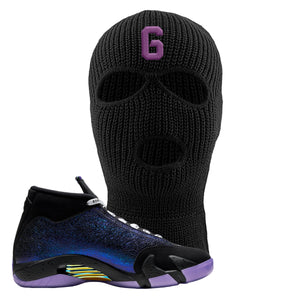Jordan 14 Doernbecher Number 6 Black Sneaker Hook Up Ski Mask