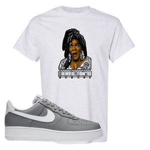 Air Force 1 Low Wolf Grey White T Shirt | Ash, Oh My Goodness