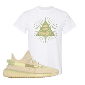 Yeezy Boost 350 V2 Flax T-Shirt | White, All Seeing Eye