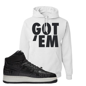 Air Force 1 High Hotline Hoodie | Got Em, White