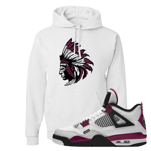 Air Jordan 4 PSG Paname Pullover Hoodie | Indian Chief, White