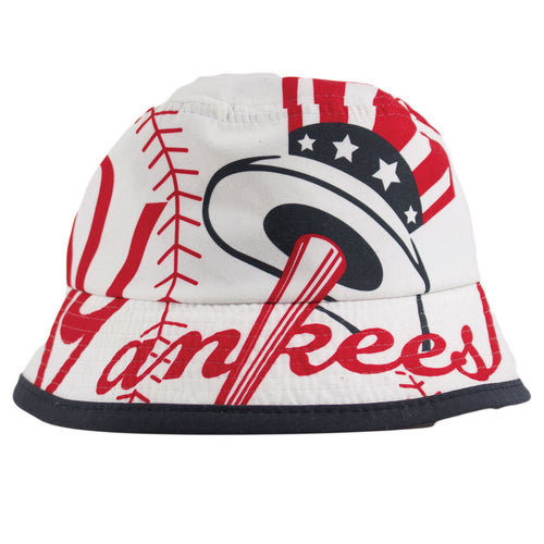 New York Yankees Infant Sized White Bucket Hat
