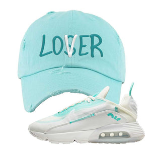 Air Max 2090 Pristine Green Distressed Dad Hat | Teal, Lover