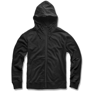 the french terry black zip up hoodie is a great addition to anybody's collection, enjoy style and comfort
