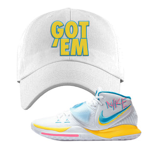 Kyrie 6 Blue Fury Dad Hat | White, Got Em