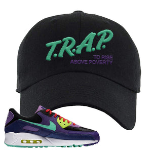 Air Max 90 Cheetah Dad Hat | Trap To Rise Above Poverty, Black