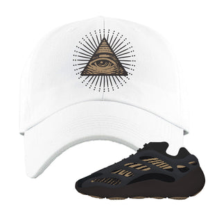 Yeezy 700 v3 Eremial Dad Hat | All Seeing Eye, White