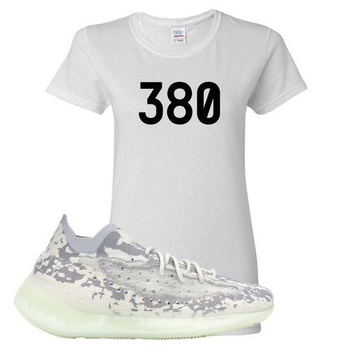 Yeezy Boost 380 Alien 380 White Sneaker Matching Women's T-Shirt