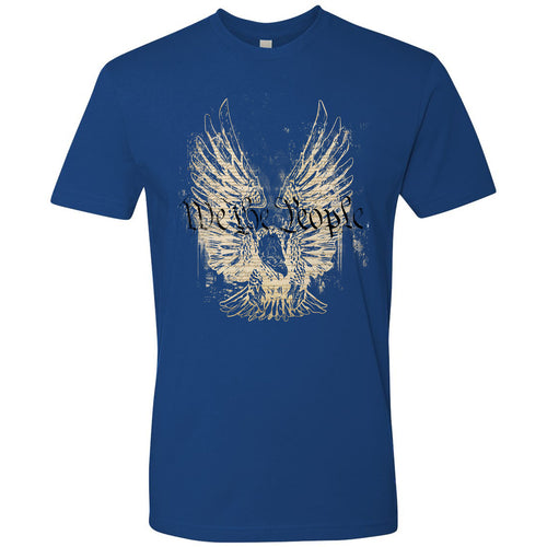 Standard Issue We The People Bald Eagle Royal Blue Grunt Life T-Shirt