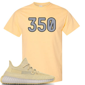 Yeezy Boost 350 V2 Flax Sneaker Yellow Haze T Shirt | Tees to match Adidas Yeezy Boost 350 V2 Flax Shoes | 350
