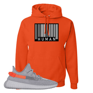 Yeezy Boost 350 V2 Tail Light Sneaker Burnt Orange Pullover Hoodie | Hoodie to match Adidas Yeezy Boost 350 V2 Tail Light Shoes | Legit Barcode