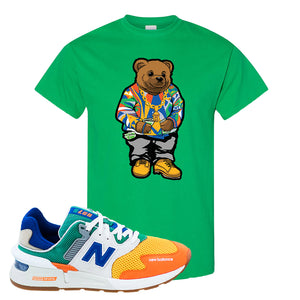 997S Multicolor Sneaker Irish Green T Shirt | Tees to match New Balance 997S Multicolor Shoes | Sweater Bear