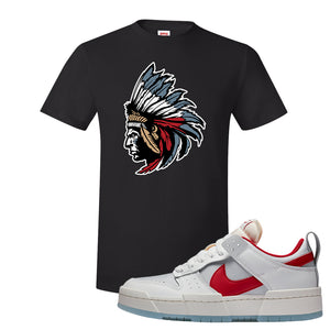 Dunk Low Disrupt Gym Red T Shirt | Indian Chief, Black