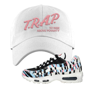 Air Max 95 Korea Tiger Stripe Dad Hat | White, Trap To Rise Above Poverty