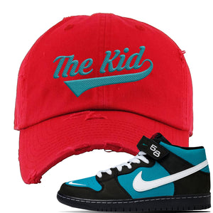 SB Dunk Mid Griffey Distressed Dad Hat | Red, The Kid