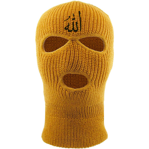 Embroidered on the front of the timberland Allah ski mask is the arabic writing for the word allah