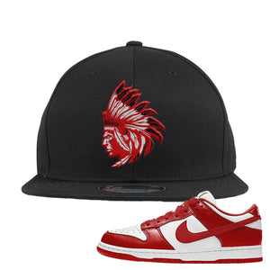 SB Dunk Low 'St. John's' Snapback Hat | Black, Indiacn Chief