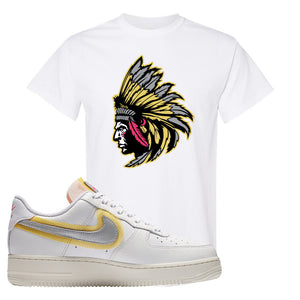 Air Force 1 Low 07 LX White Gold T Shirt | Indian Chief, White
