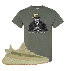 Yeezy 350 v2 Sulfur T Shirt | Heather Military Green, Capone Illustration