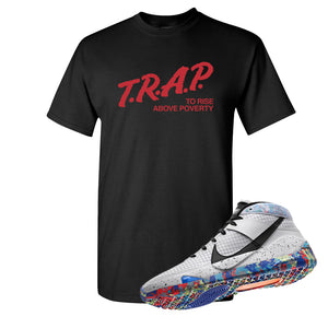 KD 13 Home T Shirt | Black, Trap To Rise Above Poverty