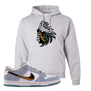 Sean Cliver x SB Dunk Low Hoodie | Indian Chief, Ash
