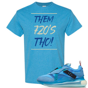 Air Max 720 OBJ Slip Light Blue T Shirt | Heather Sapphire, Them 720'S Tho