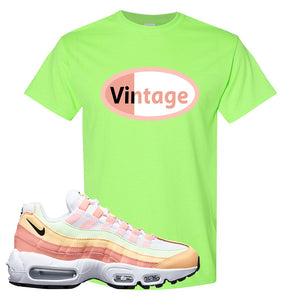 Air Max 95 WMNS Melon Tint T Shirt | Neon Green, Vintage Oval