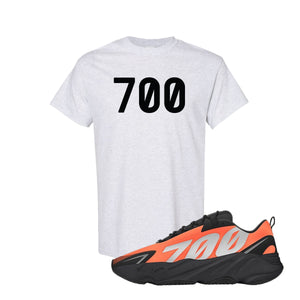 700 Ash Kid's T-Shirt to match Yeezy Boost 700 MNVN Orange Sneaker