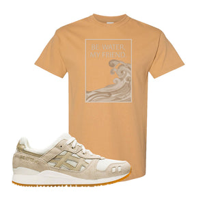 GEL-Lyte III 'Monozukuri Pack' T Shirt | Old Gold, Be Water My Friend Wave