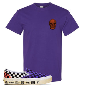Vans Slip On Venice Beach Pack T Shirt | Purple, Skull