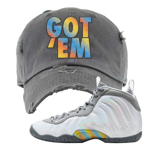 Lil Posite One Rainbow Pixel Distressed Dad Hat | Dark Gray, Got Em