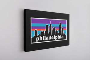 Philagonia Canvas | Philagonia Skyline Black Wall Canvas
