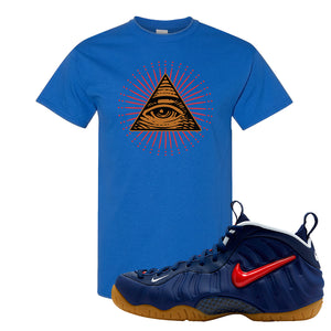 Air Foamposite Pro USA T Shirt | Royal Blue, All Seeing Eye