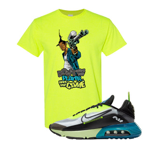 Air Max 2090 Volt T Shirt | Don't Hate The Player, Safety Green