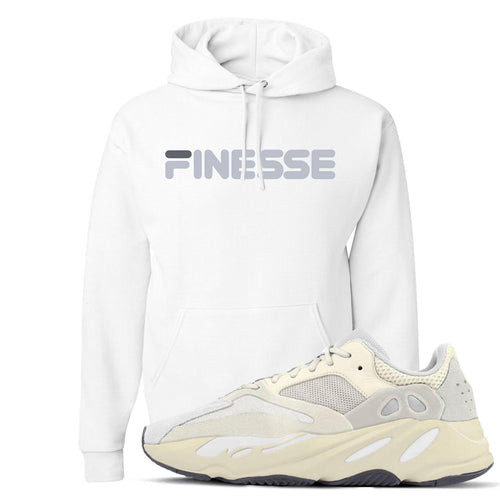 Yeezy Boost 700 Analog Sneaker Match Finesse White Hoodie