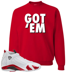 Jordan 14 Rip Hamilton Got 'Em Red Crewneck Sweater