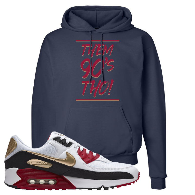 Air Max 90 Chinese New Year Hoodie | Navy Blue, Them 90's Tho
