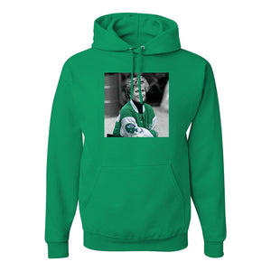 Princess Diana Eagles Jacket Pullover Hoodie | Princess Diana Eagles Jacket Kelly Green Pull Over Hoodie the front of this hoodie has princess diana wearing an eagles jacket