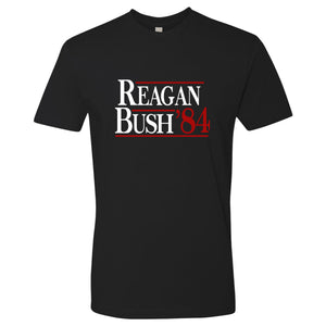 Standard Issue Reagan Bush '84 Black Grunt Life T-Shirt