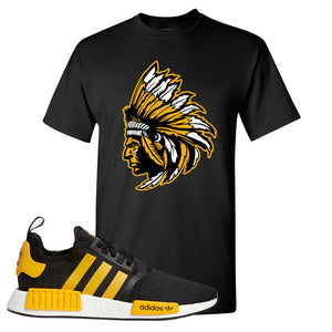 NMD R1 Active Gold T Shirt | Black, Indian Chief