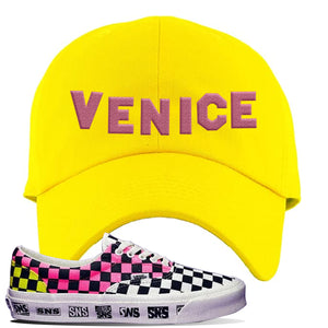 Vans Era Venice Beach Pack Dad Hat | Yellow, Venice Sign