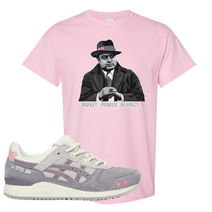 END x Asics Gel-Lyte III Grey And Pink T Shirt | Capone Illustration, Light Pink