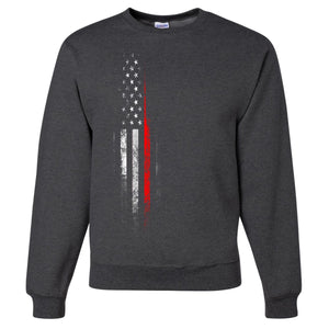 Standard Issue Red Lives Matter Distressed Gray Grunt Life Crewneck Sweater