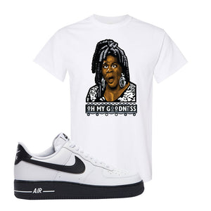 Air Force 1 Low White Black T Shirt | White, Oh My Goodness